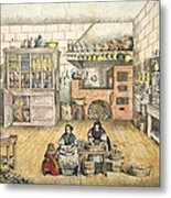 Well Stocked Rustic Kitchen Metal Print