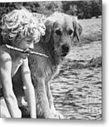 Well Trained Boy Metal Print