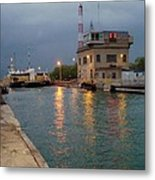 Welland Canal Locks Metal Print