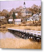 Wellfleet Golden Morn Metal Print by Karol Wyckoff