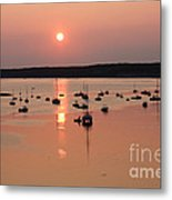 Wellfleet Harbor Sunset Metal Print