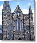 Wells Cathedral In England Metal Print