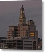 Wells Fargo Bank Building At Sunset. Metal Print