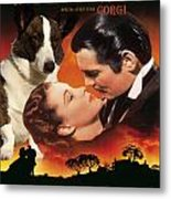 Welsh Corgi Cardigan Art Canvas Print - Gone With The Wind Movie Poster Metal Print