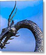 Welsh Dragon Head Metal Print
