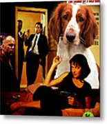 Welsh Springer Spaniel Art Canvas Print - Pulp Fiction Movie Poster Metal Print
