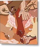 We're All In This Together Metal Print