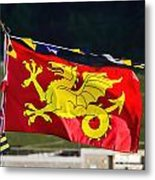 Wessex Wyvern Flag Metal Print