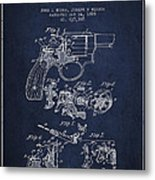 Wesson Hobbs Revolver Patent Drawing From 1899 - Blue Metal Print
