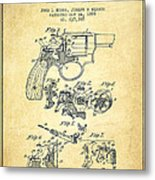 Wesson Hobbs Revolver Patent Drawing From 1899 - Vintage Metal Print