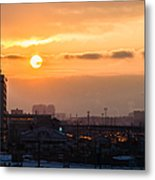 West Bound Trains Metal Print