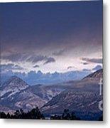 West Elk Mountains First Light Metal Print