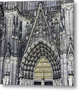 West Entrance Door Cologne Cathedral Metal Print