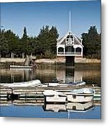 West Falmouth Boat House Metal Print