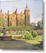 West Front And Gardens Of Hatfield Metal Print