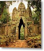 West Gate To Angkor Thom Metal Print