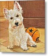 West Highland Terrier Puppy Metal Print