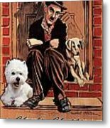 West Highland White Terrier Art Canvas Print - A Dogs Life Movie Poster Metal Print