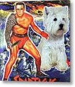 West Highland White Terrier Art Canvas Print - Spartacus Movie Poster Metal Print