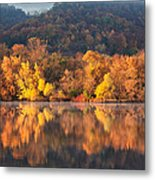 West Lake Winona Orange Stripe Metal Print