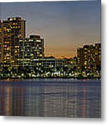 West Palm Beach At Twilight Metal Print
