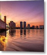 West Palm Beach Skyline At Dusk Metal Print