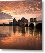 West Palm Beach Skyline At Sunset Metal Print