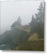 West Quoddy Head Lighthouse In Fog  Metal Print