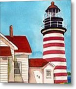 West Quoddy Light House Metal Print