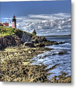 West Quoddy Lubec Maine Lighthouse Metal Print