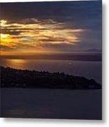 West Seattle Sunset Sunstar Metal Print