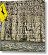 West  Texas  Interstate 10  At  80  Mph - 2 Metal Print
