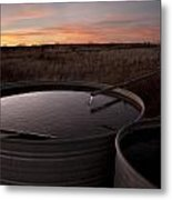 West Texas Plains Sunset Metal Print by Melany Sarafis