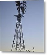West Texas Windmill Metal Print