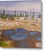West Thumb Geyser Basin Yellowstone Metal Print