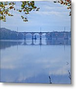 West Trenton Railroad Bridge Metal Print by Bill Cannon