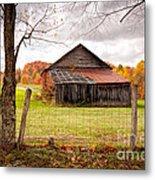 West Virginia Barn In Fall Metal Print