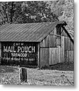 West Virginia Barn Monochrome Metal Print
