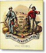 West Virginia Coat Of Arms - 1876 Metal Print