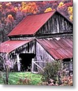 West Virginia Country Roads - Nearing The Threshold Of Yet Another Winter Metal Print