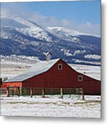 Westcliffe Landmark - The Red Barn Metal Print