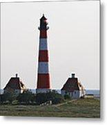 Westerhebersand Lighthouse  I- North Sea - Germany Metal Print