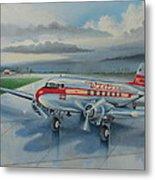 Western Airlines Dc-3 Metal Print
