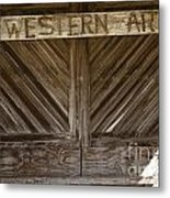 Western Art Barn Doors In Color 3003.02 Metal Print