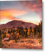 Western Barn At Sunset II Metal Print