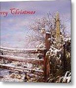 Western Christmas Metal Print