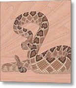 Western Diamondback Rattlesnake Metal Print