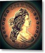 Western Draped Bust Liberty Dollar Metal Print