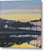 Western Lake Sunrise Metal Print