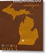 Western Michigan University Broncos Kalamazoo Mi College Town State Map Poster Series No 126 Metal Print